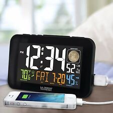 La Crosse Technology Color Dual Alarm Clock with USB Charging Port