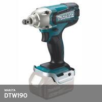 "Makita DTW190Z Impact Wrench 1/2"" 18V M8-M16 190Nm 3.3lb 2300Rpm 176mm Bare Body"