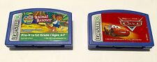 Leap Frog Leapster Game Cartridge Go Diego Go + Disney Cars Lot Of 2 !