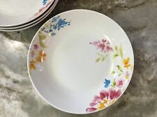 Pasta Bowls Portmeirion Studio. Pretty Floral Bouquet 8 Inch. Set Of 4. New.