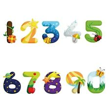 1 Set Children Bedroom Home Decor Cartoon Numbers PVC Wall Sticker ETQT0011