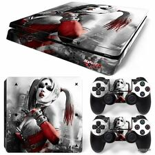 PS4 Slim Playstation 4 Console Skin Decal Sticker Harley Quinn Custom Design Set