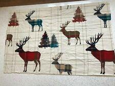 Stag deer tartan check 100% cotton flannelette remnant craft material 130x85cm