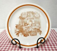 Shenango Anchor Hocking Scenic PLATE pub scene, fireplace 9 3/4""