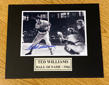 Ted Williams Boston Red Sox Signed Autographed Photo 8 X 10 COA