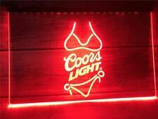 Coors Light Beer Bar Bikini Led Neon Light Sign Pub Man Cave Decor Sport Gift