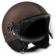 10010030303 HELMET MOMO FIGHTER EVO TOBACCO FROST DECAL BLACK S WITH OCCHIALINO