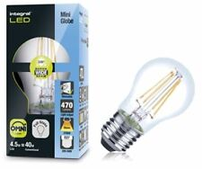 Dimmable LED Full Clear Glass Filament Warm White 4.5W (40W) Golf Ball E27 Bulb