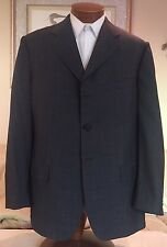 NEW Stunning Louis Vuitton Mens 3 Btn Gray Single Vent Gray Blazer Sz 44 R