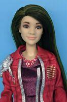 Disney Zombies 2 Eliza Doll Custom Reroot Long Green & Black Hair ooak barbie