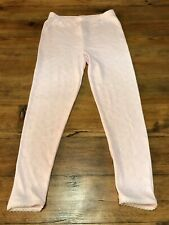 GIRLS THERMAL LEGGINGS. Pale Pink. AGE 6-7 Years.  Good Condition