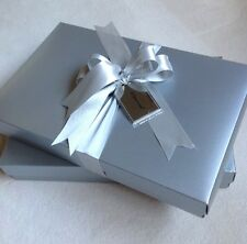 """2 Collectible Neiman Marcus Silver Gift Tag """"Given With Joy"""" Shirt Box & Tissue"""