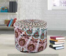 Indian Handmade Cotton Mandala Ottomans Cover Boho Bedroom Moroccan Footstools