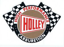 Holley Carburetion Chequered Flags Tribute Retro Stickers
