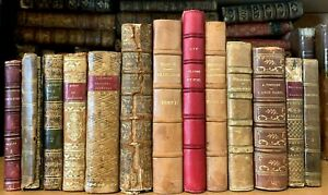 LOT OF ANTIQUE BOOKS 1700-1800s Philosophy, Literature, History, Religion