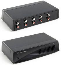 HQ MANUALE 4 PORTE AUDIO PHONO switch con jack per cuffie