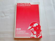 Honda Owner's Manual 99 TRX400FW FOURTRAX Foreman 400 PN# 31HM7640