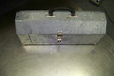 vTg metal tool box with inner tray planter craft box