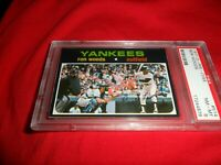 1971 OPC O-pee-Chee Topps #514 Ron Woods New York Yankees NM MINT PSA 8 Sharp