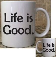 Polymer Unbreakable Plastic Camping Coffee Mug Cup 11oz Life is Good Great Gift