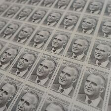 FEUILLE SHEET TIMBRE PRÉSIDENT GEORGES POMPIDOU N°1839 x50 1975 NEUF ** LUXE MNH