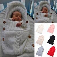 Newborn Baby Infant Knit Swaddle Stroller Wrap Blanket Sleeping Bag Sleep Sack