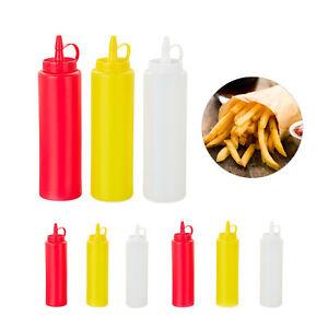 Squeeze Flasche Saucenflasche Quetschflasche Ketchupflasche Senfspender 9er Set