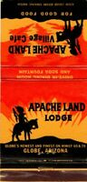 APACHE LAND LODGE Village Cafe Globe Arizona Vintage Matchcover Matchbook