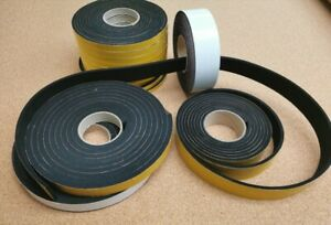 Neoprene Self Adhesive Backed Foam Sponge Strip Roll Sheet Tape Sticky Seal EPDM