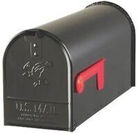 NEW SOLAR USA E1100B00 BLACK HEAVY DUTY METAL STANDARD RURAL MAILBOX 0143321