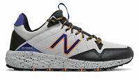New Balance Men's Fresh Foam Crag Trail Shoes Grey with Black & Blue