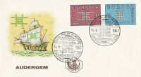 EU56) Belgium 1963 Europa Stamps On First Day Cover