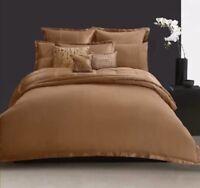 Donna Karan ~ Home Modern Classics ~ Tailored Pleat Queen Bedskirt ~ Cognac ~New