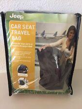 NEW Jeep Black Car Seat Travel Bag Nylon Universal Size Fits All Car Seats Strap
