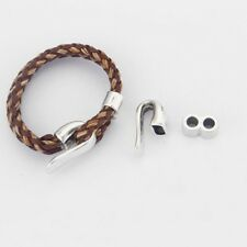 15Sets Antiqued Bronze Hook Clasps for 5mm Leather Bracelet FC11814B