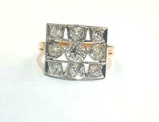 Platinum & 18k yellow gold Vintage ANTIQUE  OLD mine CUT 2.00ct diamond ring