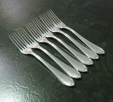 6 Dessertgabeln / Gabeln BSF 96 90er Silber Auflage 18,2 cm versilbert Besteck