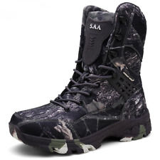 Waterproof Tactical Military Desert Boot Hiking Camouflage High-top Desert Shoes