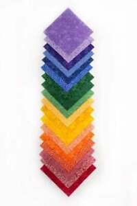 "108 piece Rainbow Basics  charm pack 5"" squares 100% cotton fabric quilt"
