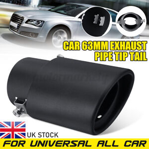 2.5'' / 63MM Universal Car Rear Muffler Exhaust Tail Pipe Tip Stainless Steel