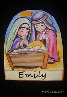 Nativity Personalised Decoration-Handpainted Christmas tree ornament
