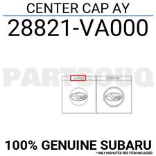 28821VA000 Genuine Subaru CENTER CAP AY 28821-VA000