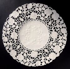 """100 - 10"""" OFF WHITE ROSE FLORAL Lace Paper Doilies 