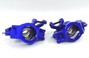 VITAVON CNC ALU7075 redesigned Front Knuckles+ C hub for Traxxas X-MAXX 1/5 Blue