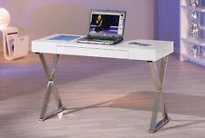 Schreibtisch »grace« 120x75x55 Cm MDF Metall WEISS 30 Kg
