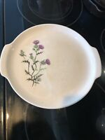 Vintage French Saxon China Thistle Platter Union Made In USA