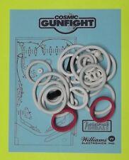 1982 Williams Cosmic Gunfight pinball rubber ring kit