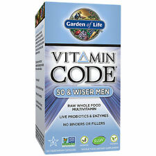Garden of Life Vitamin Code 50 & Wiser Men - 120 Vegetarian Capsules
