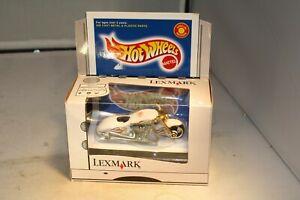 Hot Wheels Lexmark Scorchin' Scooter White w/flames #26275 Mint n Box! Free Ship