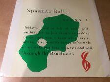 "Spandau Ballet - Through The Barricades  - UK 7"" 45rpm record"